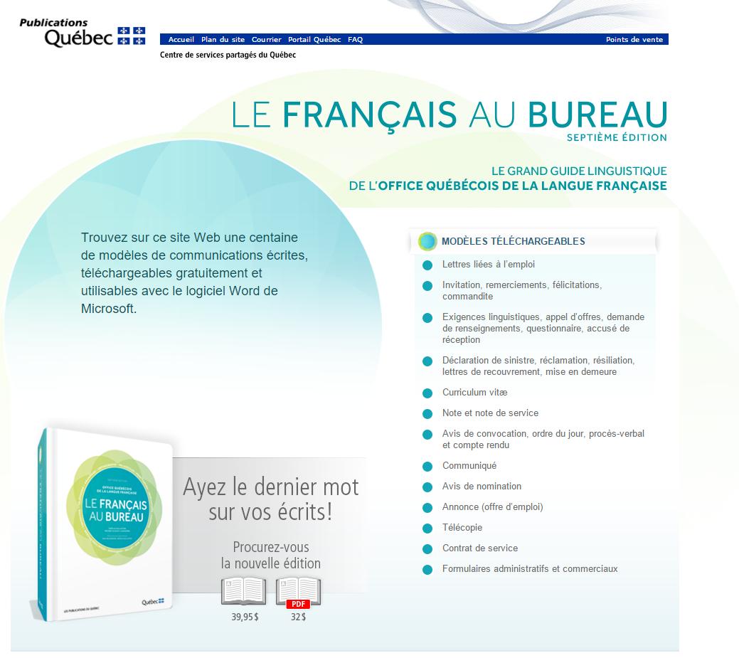L office de la langue fran aise et son guide administratif complet et gratuit philippe m nard c t - Office de la langue francaise ...