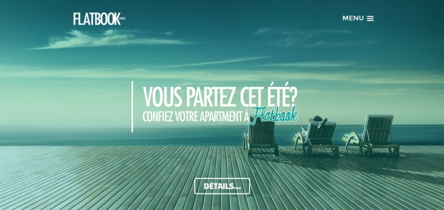 SIte WEB de FLATBOOK. La sous-location d'appartements garanties partout dans le monde